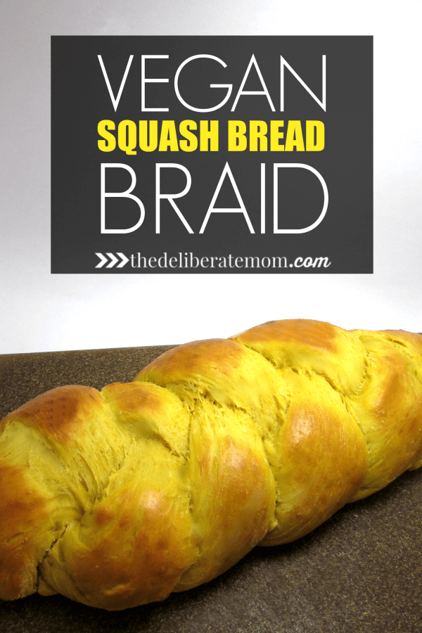 This melt in your mouth, vegan squash bread braid is scrumptious. This bread is perfect for serving guests at Easter, Thanksgiving, and even Christmas! The pretty braid makes this bread pretty to look at too!
