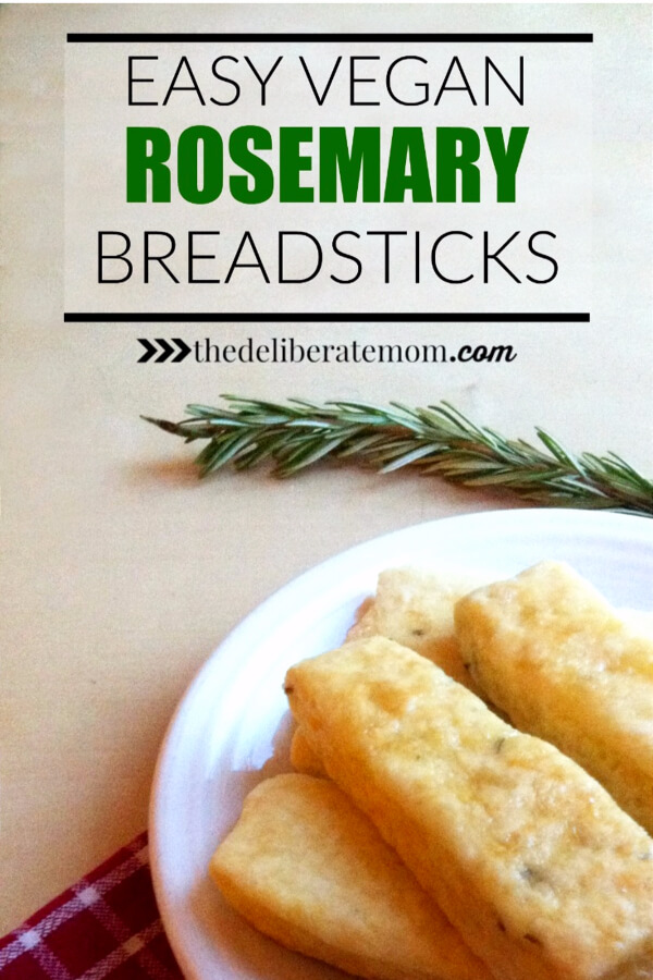 You NEED this recipe in your life! Soft, delicious, melt in your mouth buttery-flavoured, vegan rosemary breadsticks! Better than any restaurant breadsticks!