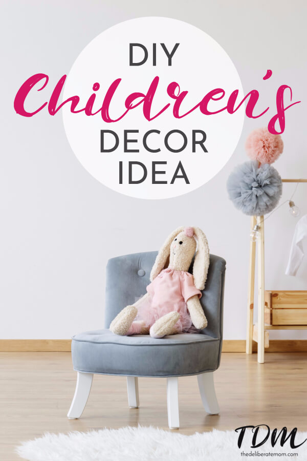 Check out this simple, affordable, DIY project for your kid's room! A personalized name banner is a fabulous children's room decor idea! So cute!