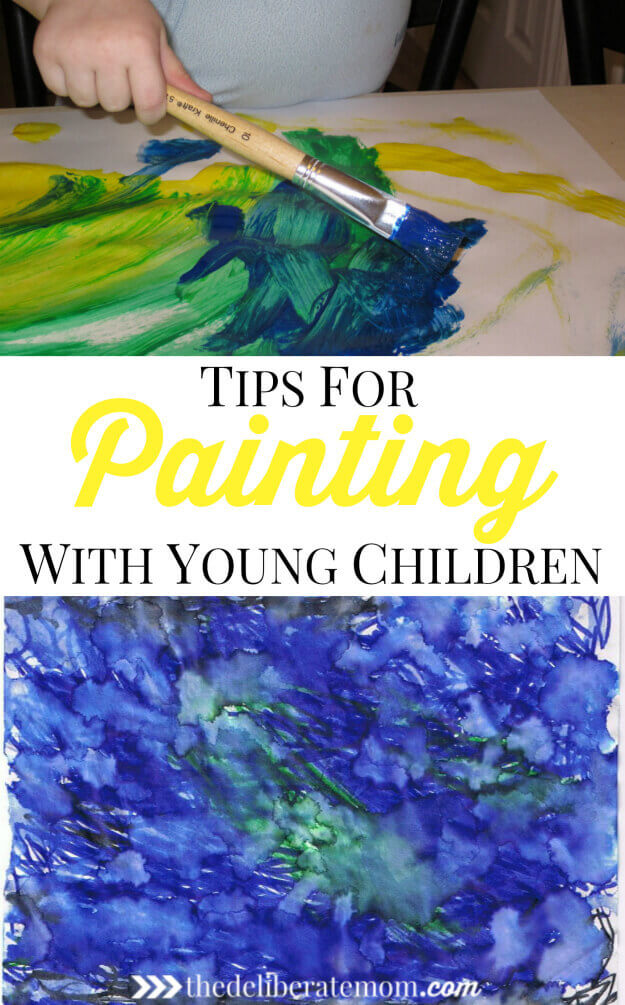 "Painting with young children can be overwhelming, but the preparation and possible ""mess"" are worth it. Here are some tips to make this experience positive."