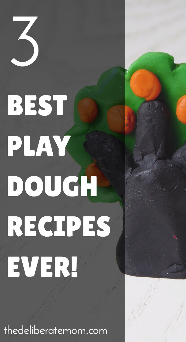 Want some great play dough recipes?! This former day care teacher shares three of the best play dough recipes!