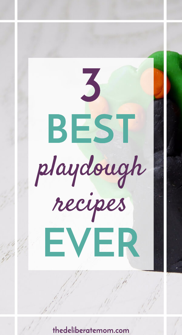 Want some great play dough recipes?! This former daycare teacher shares three of the best play dough recipes!