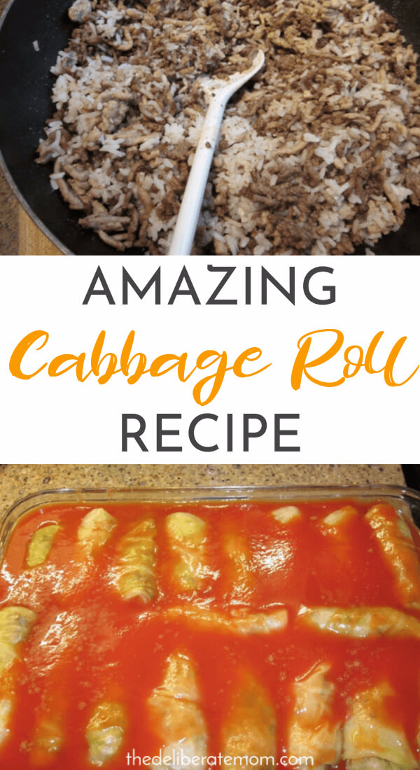 """The most delicious, amazing cabbage roll recipe you will ever try. This cabbage roll recipe was deemed """"as good as Grandma's (and that says something)! Serve this for Christmas dinner, Easter dinner, or for your Thanksgiving feast!"""