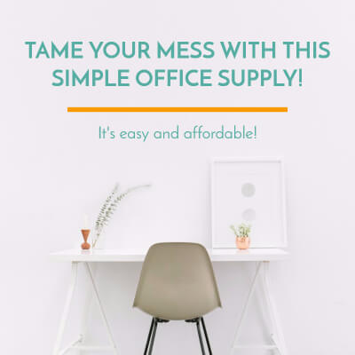 Organize Your Mess With This One Simple Office Supply!