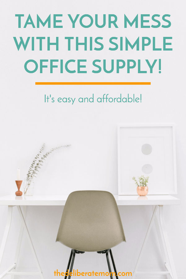 Organize your mess with this one simple office supply! You'll be shocked at how easy and affordable this is!