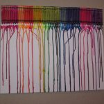 Crayons + Heat = Art! Melted Crayon Masterpiece!