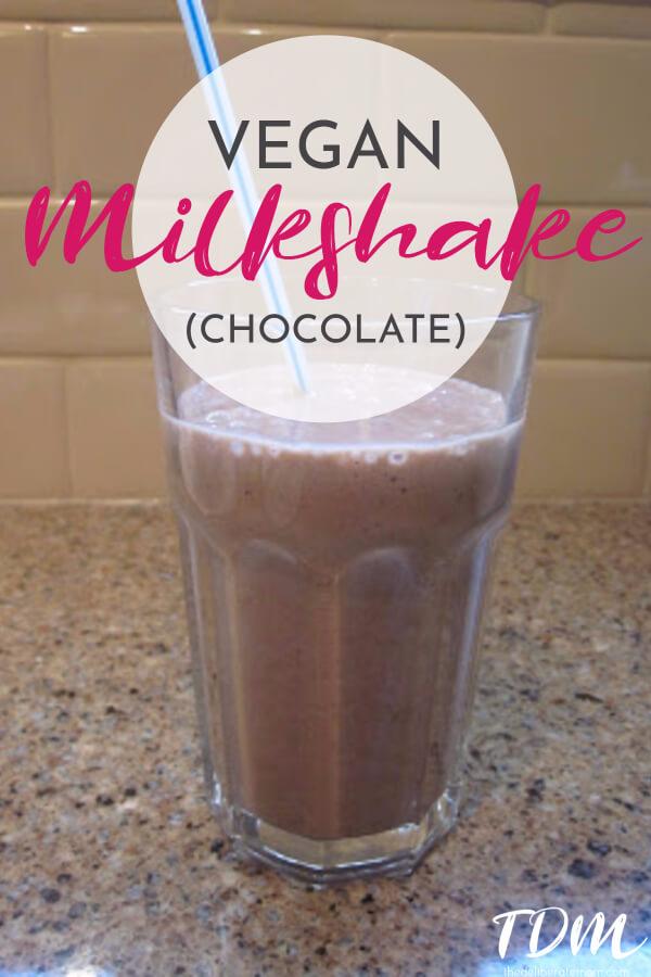 A scrumptious, easy-to-make vegan chocolate milkshake! A dairy-free milkshake that's healthy and delicious!