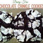 A Dairy-Free Christmas: Chocolate Crinkle Cookies
