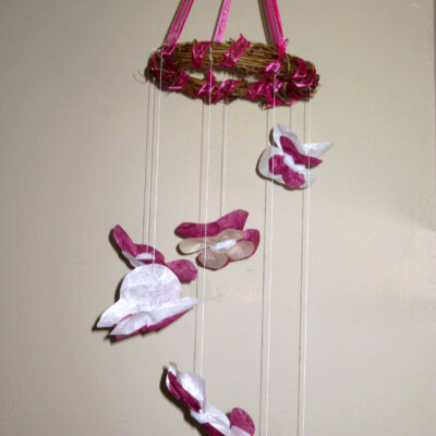 A DIY Butterfly Mobile For Baby's Bedroom