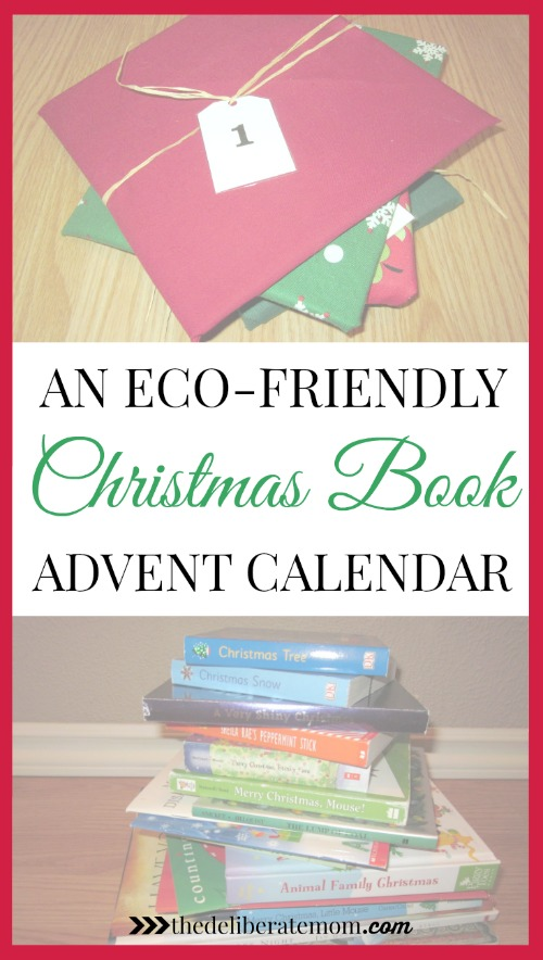 Every year we do a Christmas book advent calendar! We love books and this is a great way to get excited for Christmas! Our version is eco-friendly too!