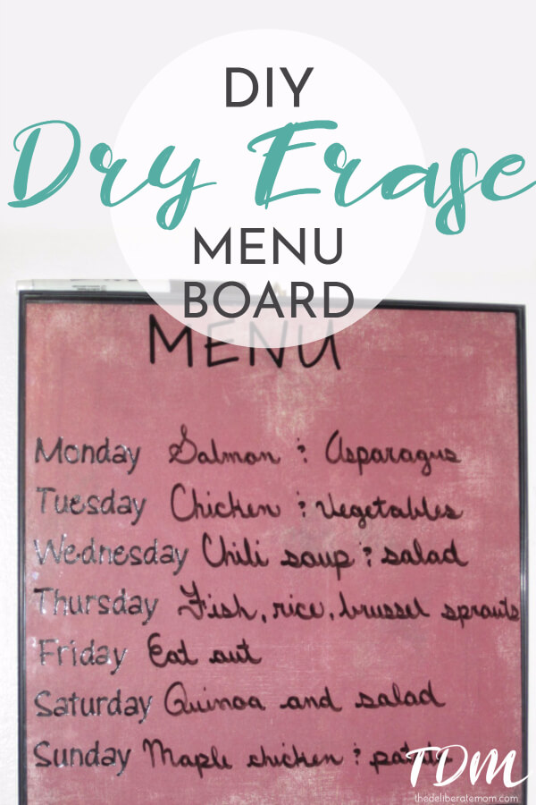 We have been on a journey to reduce food waste. One of the ways we do that is we plan our menus! Check out this DIY dry erase menu board that we made for our kitchen.