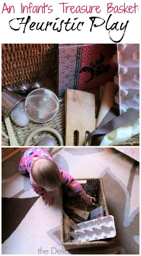 Heuristic play is very beneficial for little ones. This post explains heuristic play and shows you how to assemble a treasure basket for your infant.