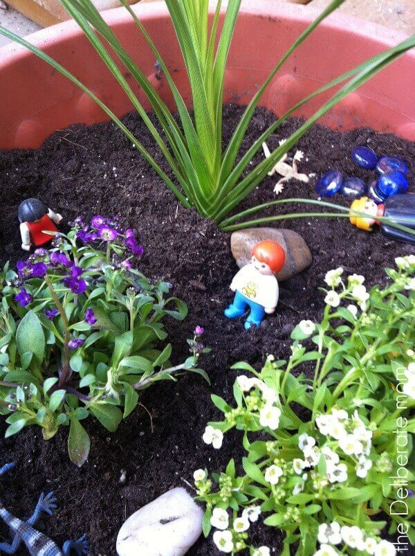Playspaces for small backyards - a play (fairy) garden.