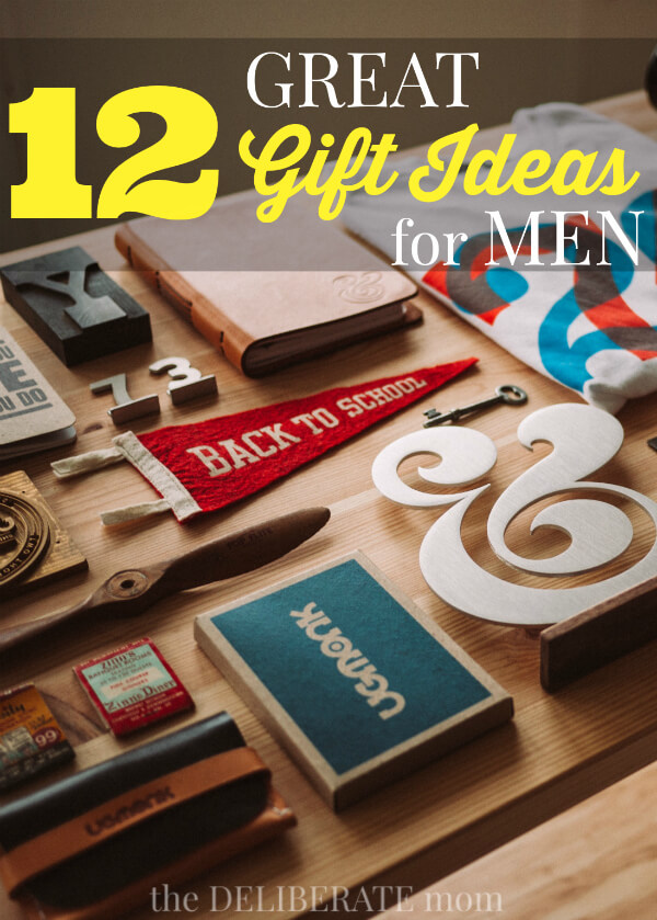 Do you need birthday gift ideas for your husband? Are you looking for a special Father's Day Gift? Men can be really challenging to buy gifts for! Come check out this roundup of 12 great gift ideas for men! Some are funny, some are DIY, and other gift ideas are practical. There's something for everyone!
