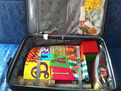 Suitcase Gift Wrap Station