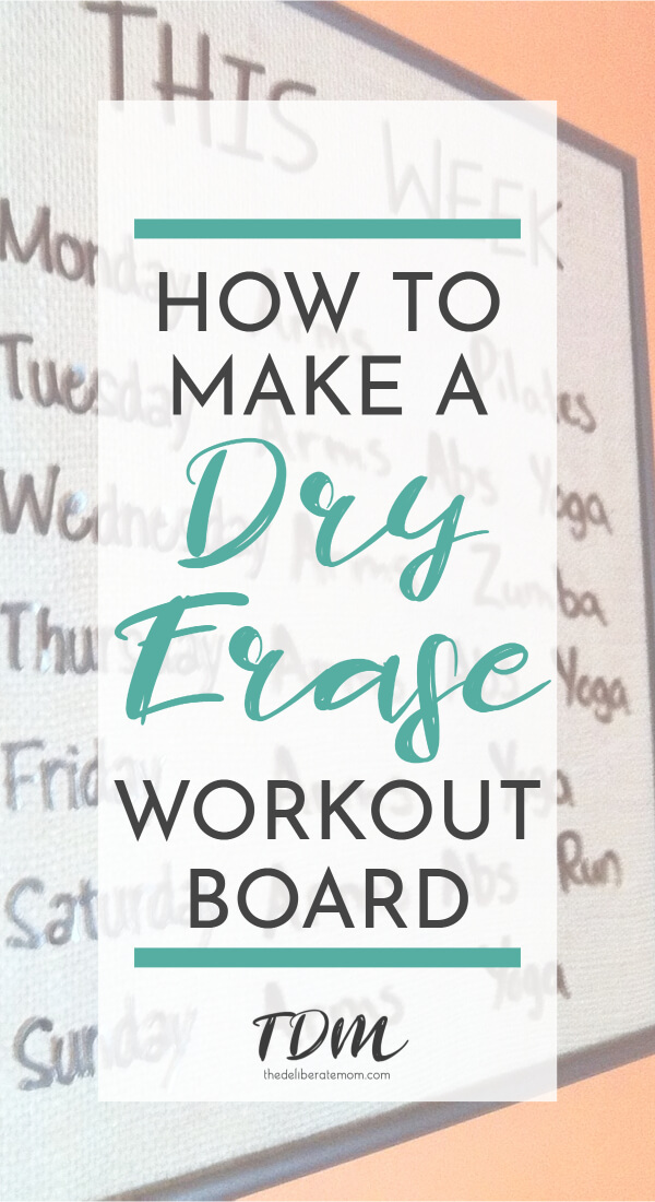 Do you want to track your workout routine but don't like jotting your schedule on paper? Check out this diy tutorial to make a dry erase workout board! There are plenty of pictures to take you step-by-step through the process and it's super simple to make! #exercise #health #diy #fitnesstracking