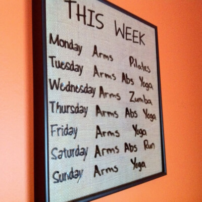 How to Make a Dry Erase Workout Board