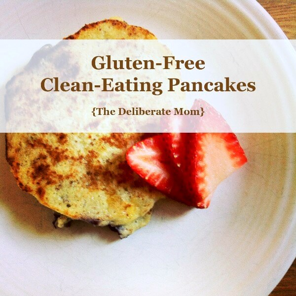 Do you want a good tasting gluten-free pancake recipe? This recipe is delicious and only requires 5 ingredients! Simple, quick, healthy, clean-eating food!