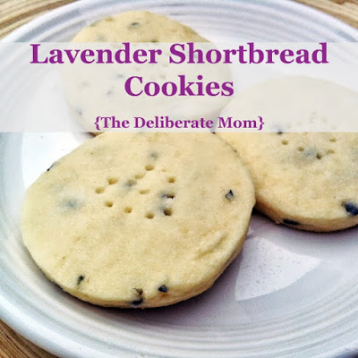 Lavender Shortbread Cookies - The Deliberate Mom