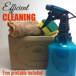 Do you ever feel like you don't have time to get all your housework done? Check out these efficient cleaning tips and organizing routine! Comes with a FREE printable cleaning list.