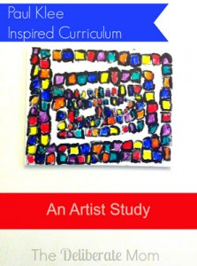 Art can evolve into a full curriculum covering a range of subjects. Check out this artist study and resulting Paul Klee inspired curriculum as an example!