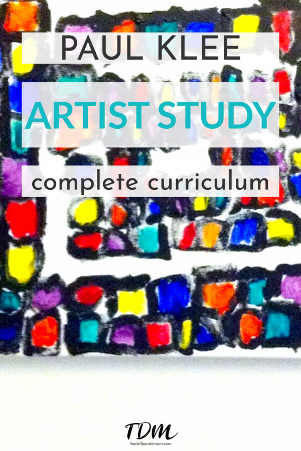Art can evolve into a full curriculum covering a range of subjects. Check out this artist study and resulting Paul Klee inspired curriculum as an example! #homeschooling #artiststudy #homeschoolart
