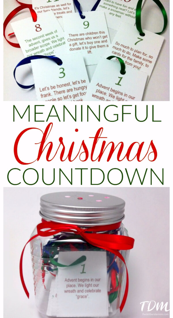 This is a fabulous alternative to an advent calendar. Teach children about the spirit of giving in the days leading up to Christmas. Print off cards for the days leading up to Christmas which have activities on them (i.e. donate food to the food bank, donate hats and mitts to the homeless, donate dog and cat food to the animal shelter, etc.)