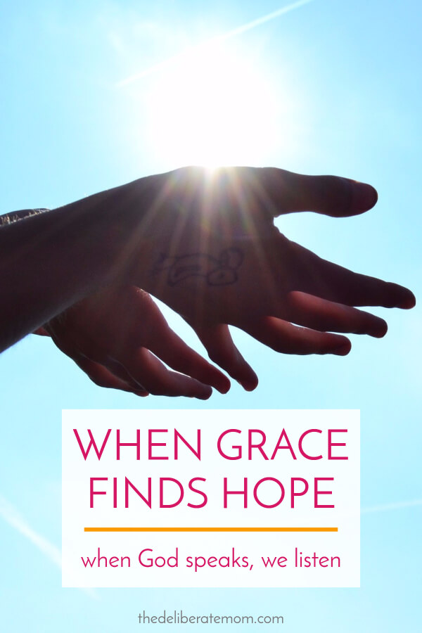 When Grace finds Hope. An encouraging story about God speaking, resisting His voice, and a revelation how when God speaks, we listen.