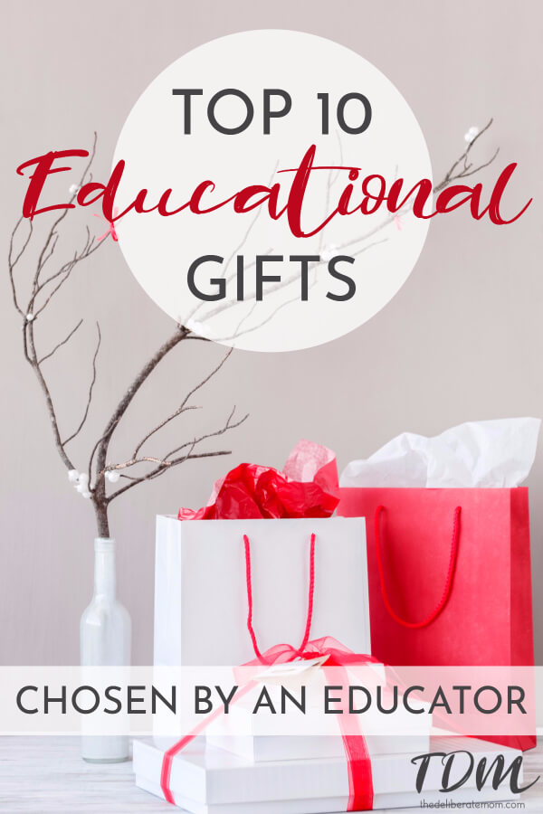 Need some gift ideas for kids? Here are the TOP 10 educational gift ideas for young children (as recommended by an early childhood educator).