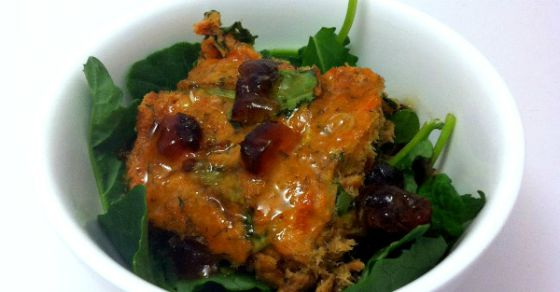 Salmon and Spinach Loaf with Ginger Lime Dressing