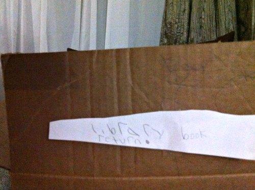 Homeschooling curriculum ideas: making a book return box