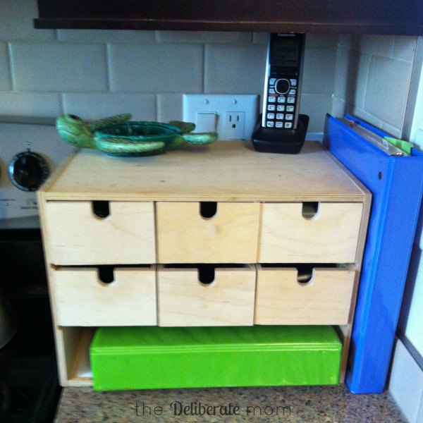 easy peasy diy electronics charging station the deliberate mom. Black Bedroom Furniture Sets. Home Design Ideas