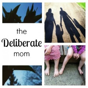 the Deliberate mom logo