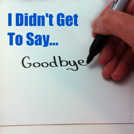 When you don't get to say goodbye in the blogging world. #blogging