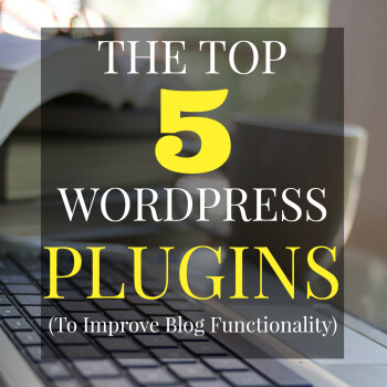 These are my top 5 WordPress plugins to help improve a blog's functioning. There are lots of plugins to choose from but these are by far, my favourites!