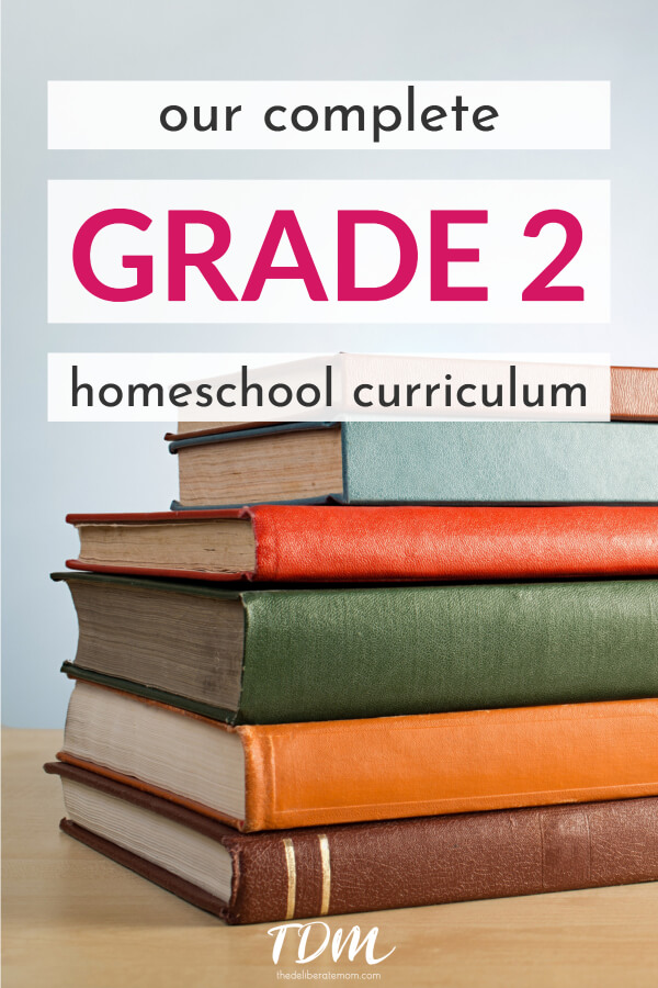 Our complete grade 2 homeschool curriculum. A List of the resources we are using for all subjects. #homeschoolcurriculum #grade2curriculum