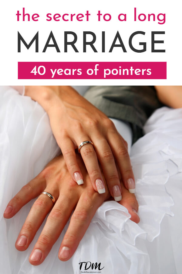 What's the secret to a long marriage? Here is some essential marriage advice from a couple with 40 years of pointers! #marriageadvice #marriagetips #longmarriage #marriagesecrets