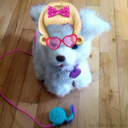 You can even access an app so you can do makeovers on your pet! #FurRealFriends