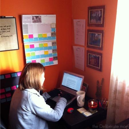 My NaNoWriMo workspace - day 1