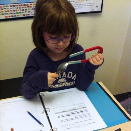 Science - exploring magnets #homeschool #schedule