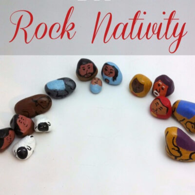 DIY Rock Nativity