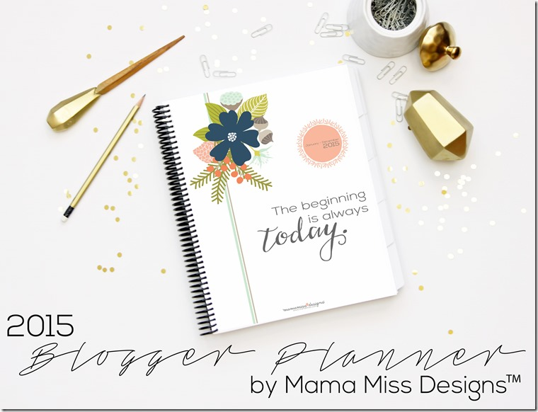 A beautiful 2015 blog planner from @mamamiss Designs! Enter to win one of your own. #blogging #organization