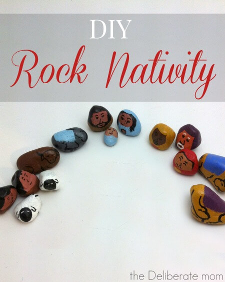 This is such a cute little nativity scene! Check out this DIY Rock Nativity! It's an easy to make and affordable Christmas craft!
