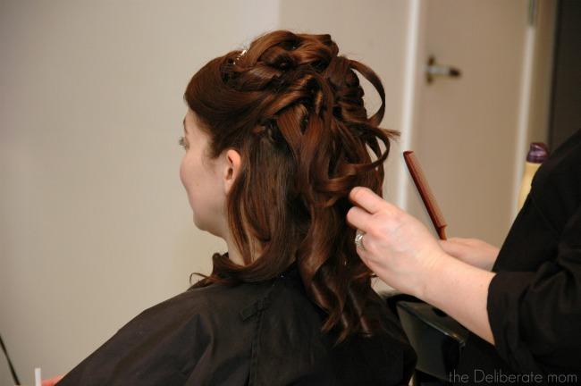 My wedding day hair