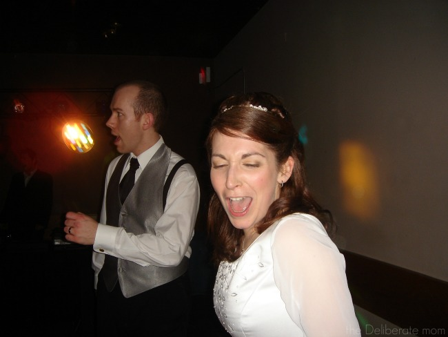 All brides have to belt out a tune while dancing at their weddings, right?!