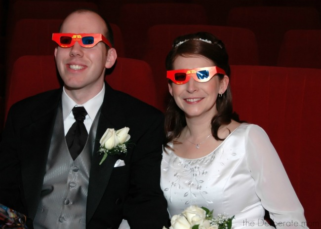 Got to have 3D glasses for your movie themed wedding!