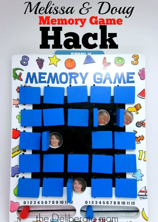My husband came up with this brilliant idea to extend the life and playability of my daughter's Melissa & Doug game. Check out this memory game hack!