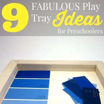 9 Fabulous Activity Tray Ideas For Preschoolers