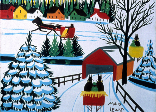 Winter Sleigh Ride by Maud Lewis  CREDIT:©Art Gallery of Nova Scotia. (URL: http://artgalleryofnovascotia.ca/)
