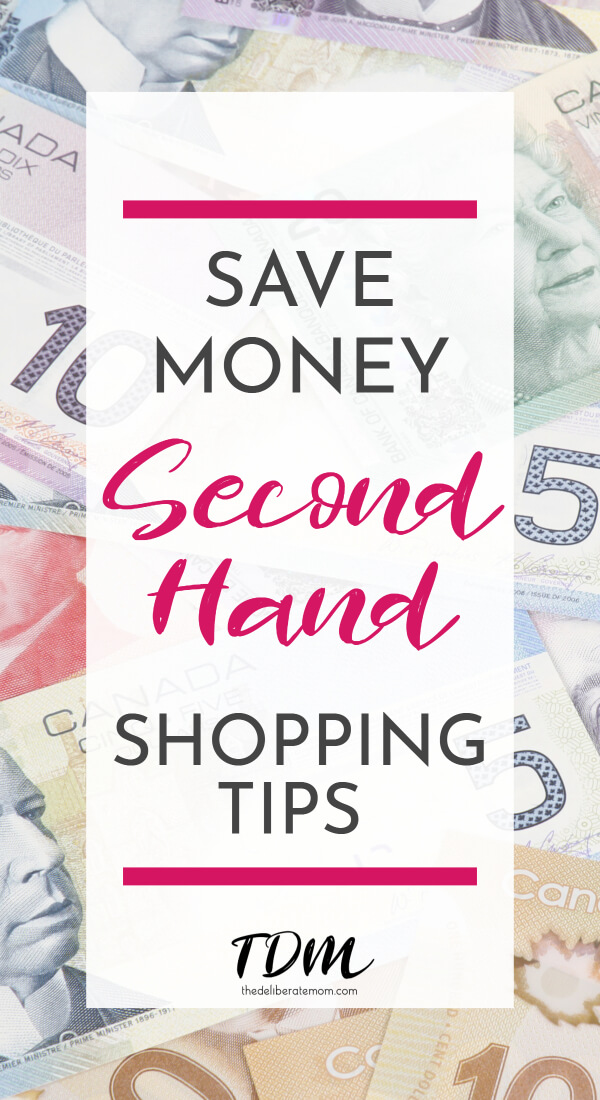 As a single-income family, we do a number of things to stretch our dollar. There are many budget tips available but second-hand shopping is one of my favourite ways to save money. Make the most of your budget and check out the best second-hand shopping tips for your family. #budget #savemoney #bargainshopping #gooddeals